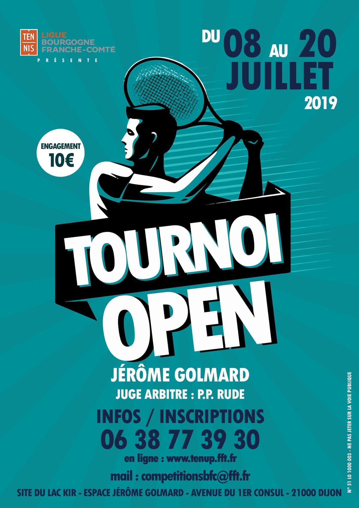 Tournoi Open Jérôme GOLMARD Dijon Lac Kir