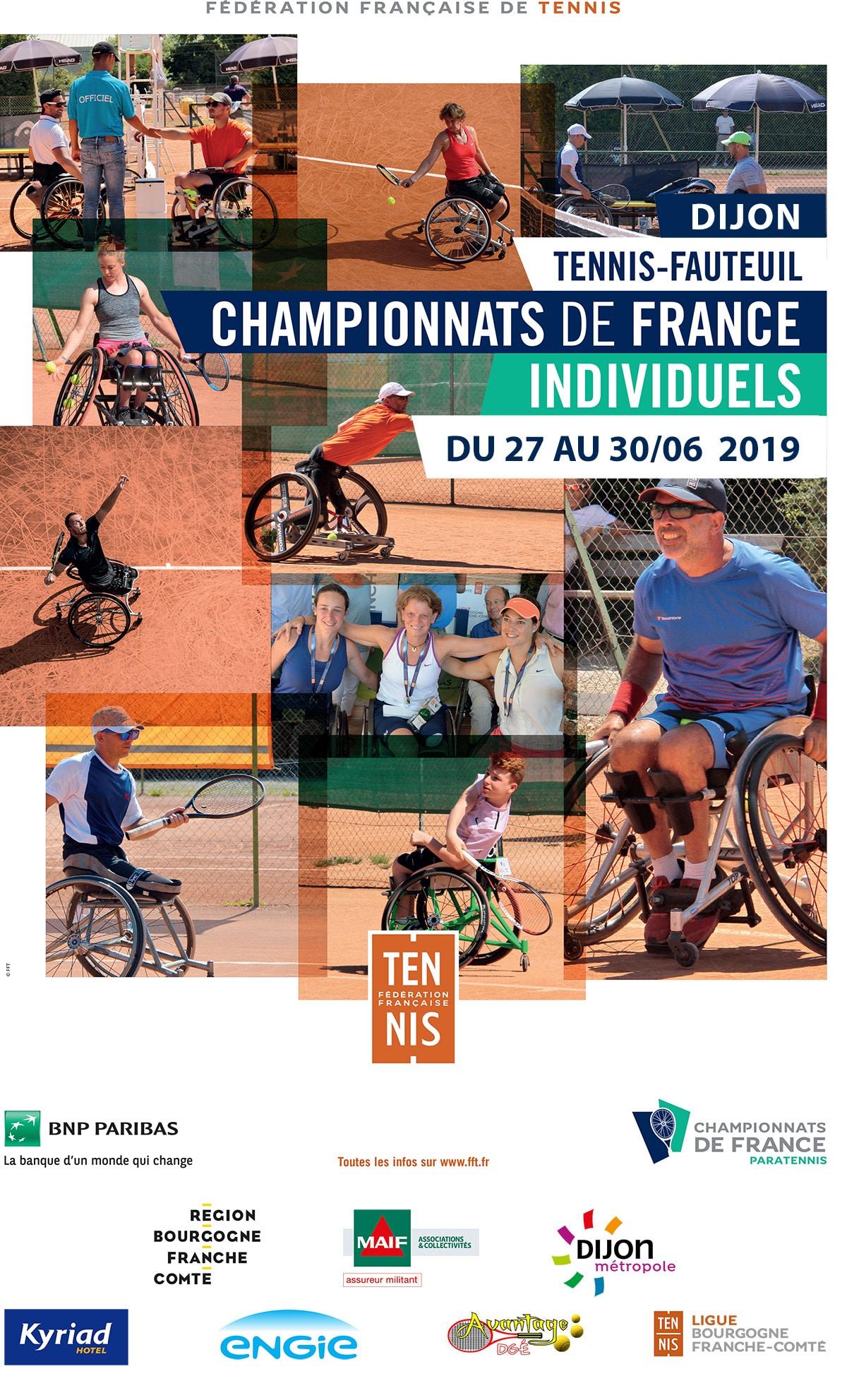 Affiche Championnats de France individuels de Tennis Fauteuil