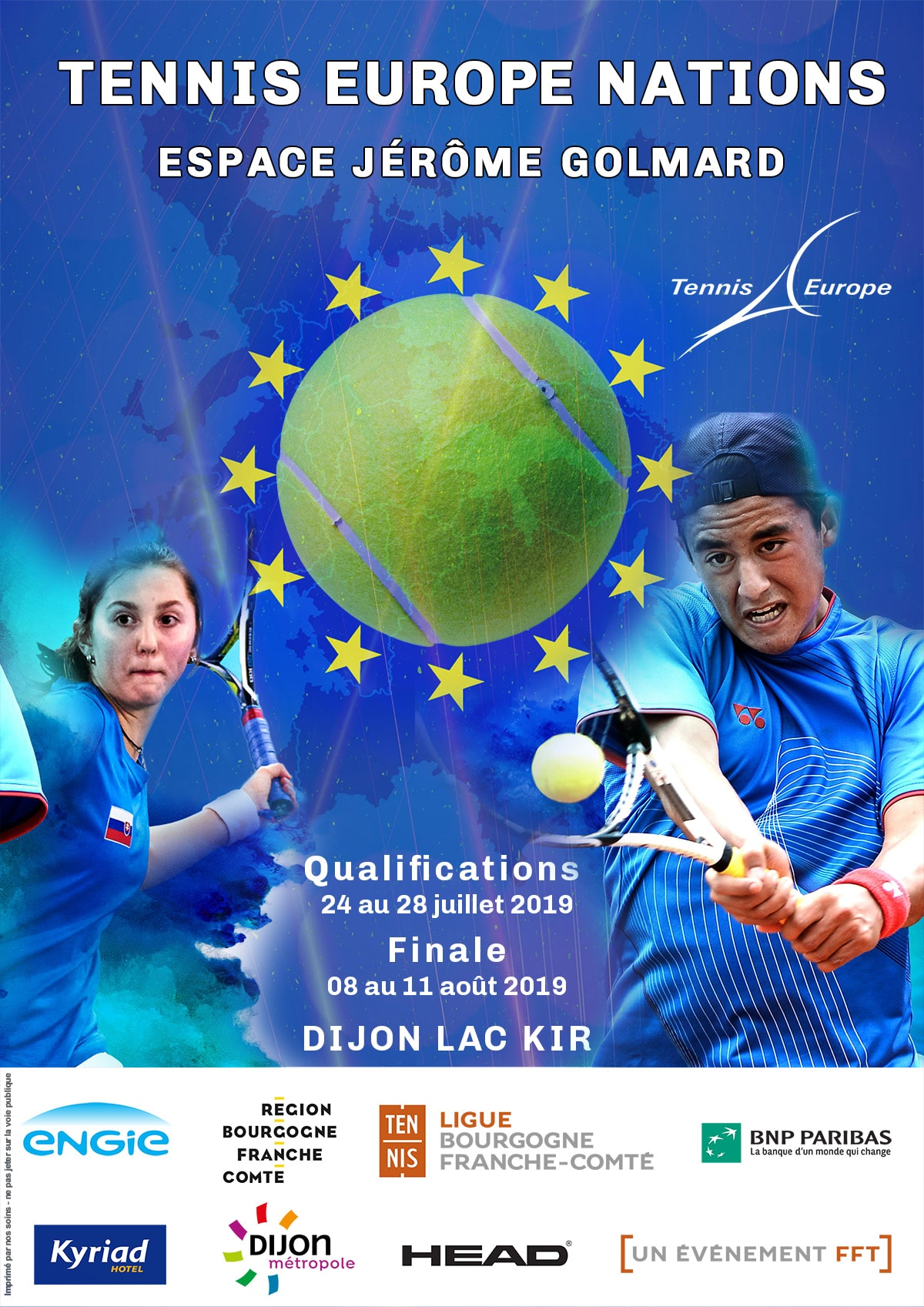 Affiche Tennis Europe Nations 2019