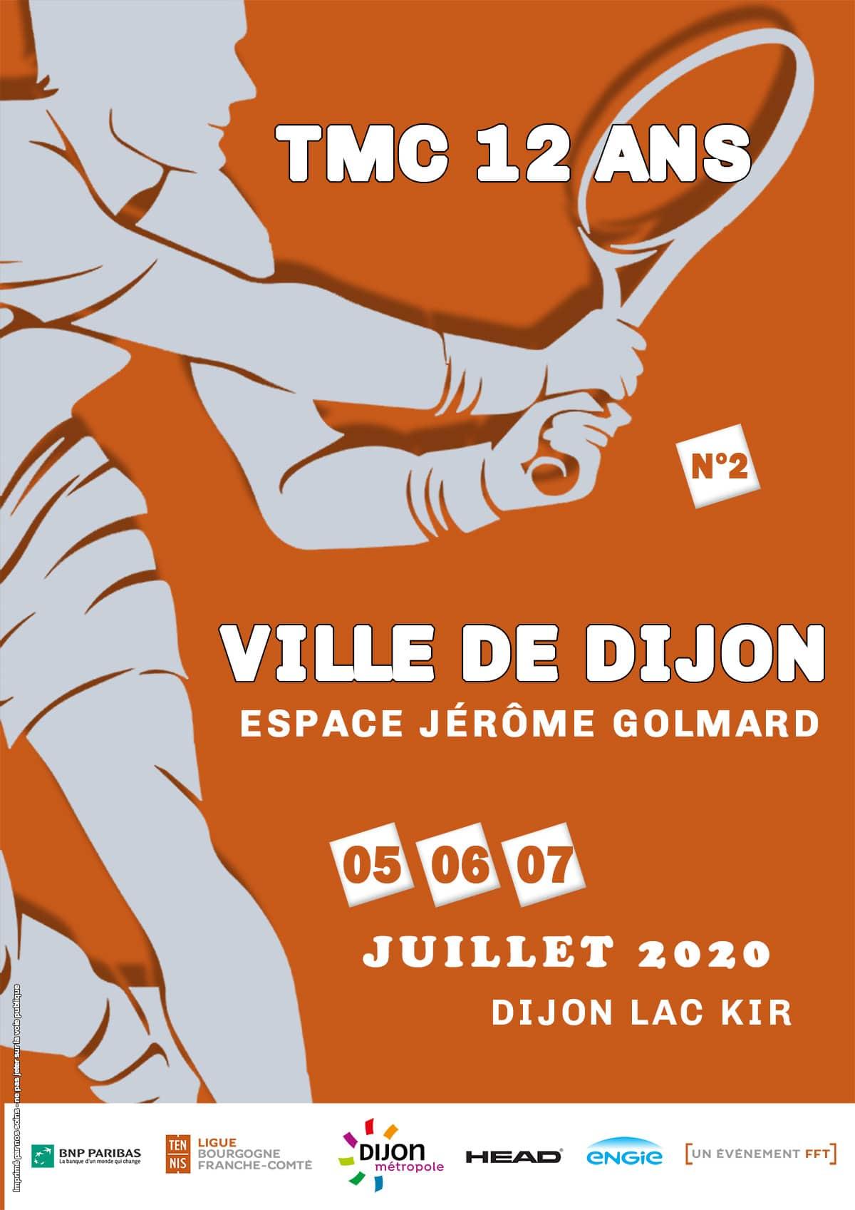 Affiche Tmc 12 Ans de la Ville de Dijon Juillet 2020