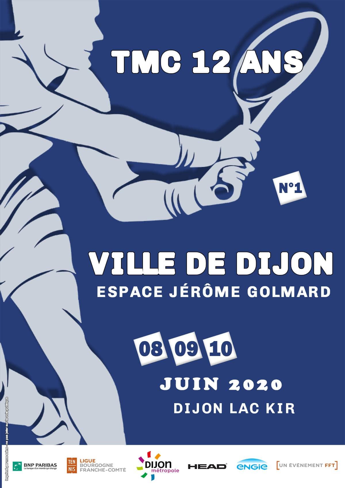 Affiche Tmc 12 Ans de la Ville de Dijon : Juin 2020