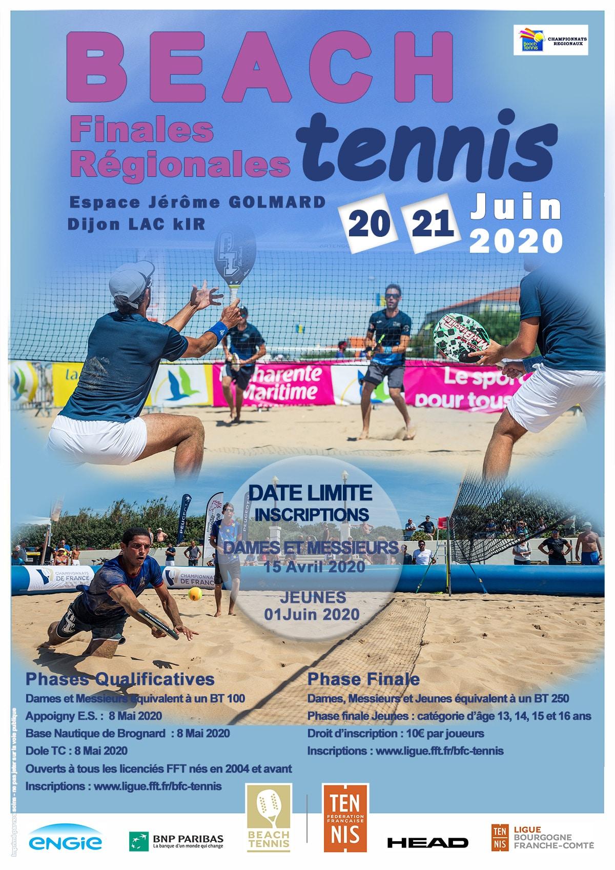 Beach Tennis Finales Régionales Ligue BFC