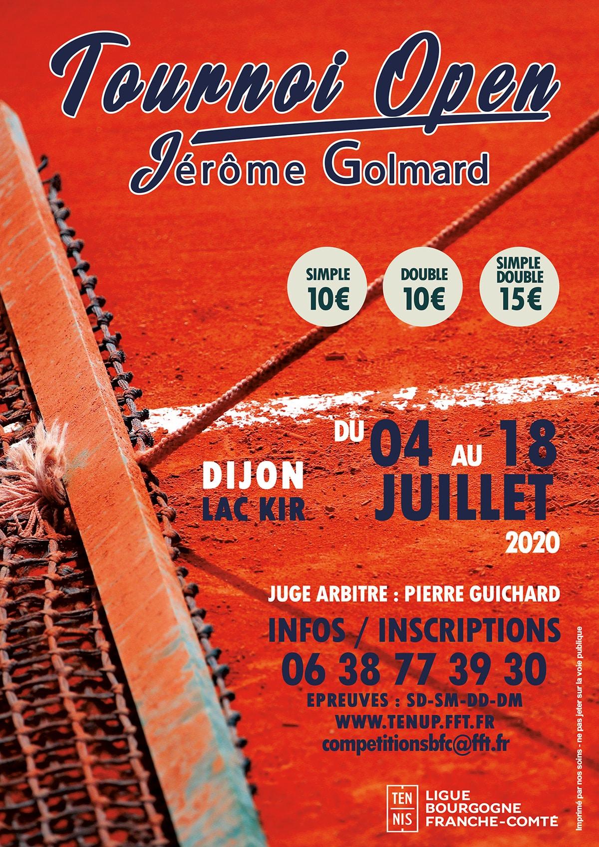 Tournoi Open Seniors Jerome Golmard 2020