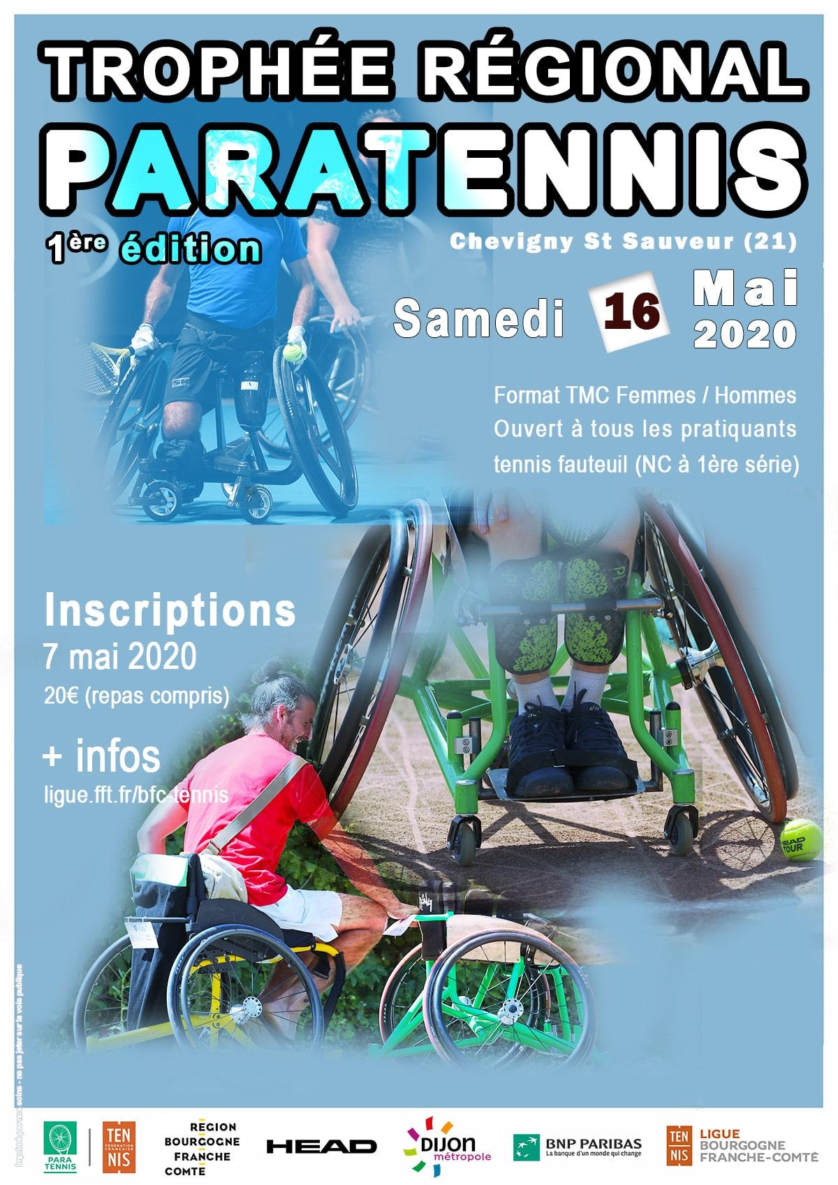 Trophée Régional Para tennis 2020 : Ligue Bourgogne-Franche-Comté de Tennis