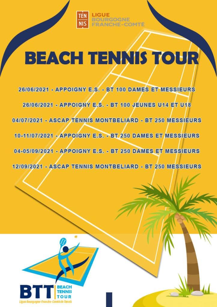 Beach Tennis Tour : Ligue Bourgogne-Franche-Comté de Tennis