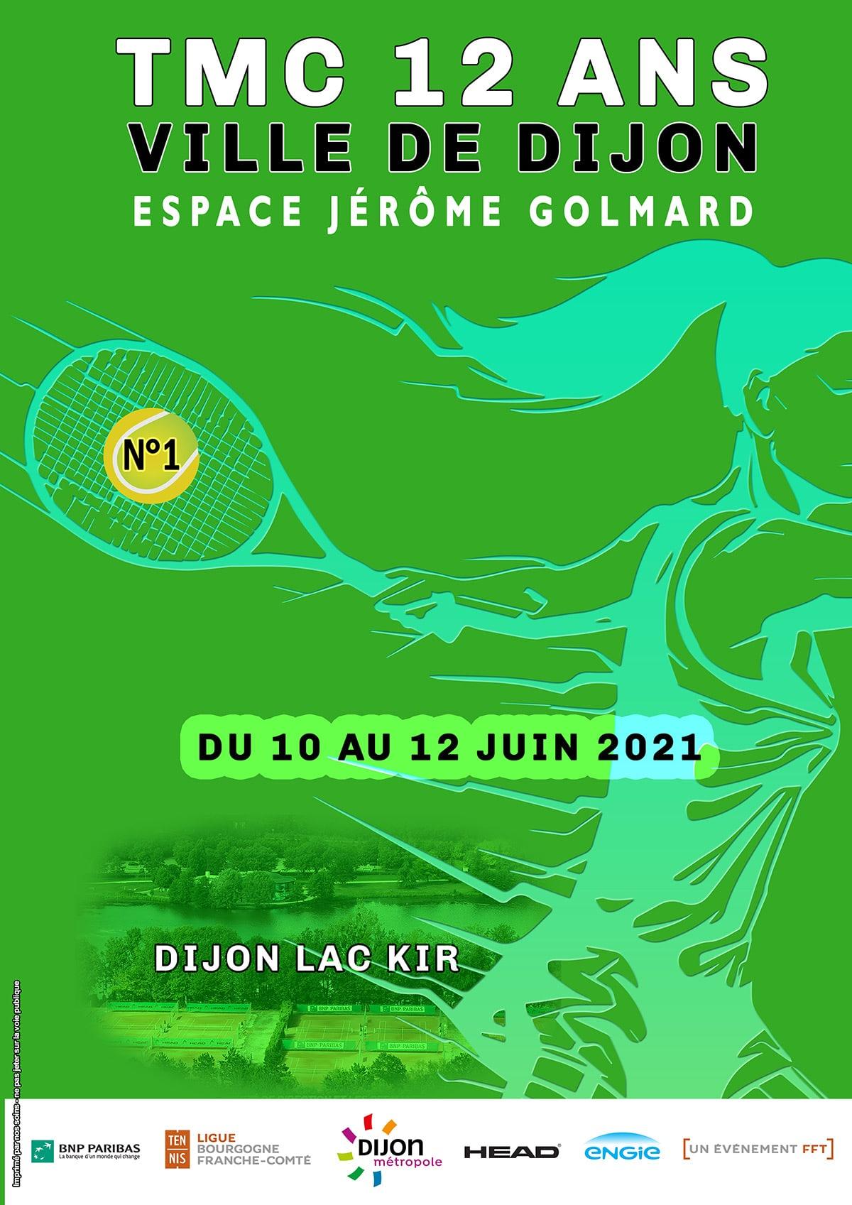 Affiche Tmc 12 Ans 2021 Numéro 1 Ligue Bourgogne-Franche-Comté de Tennis