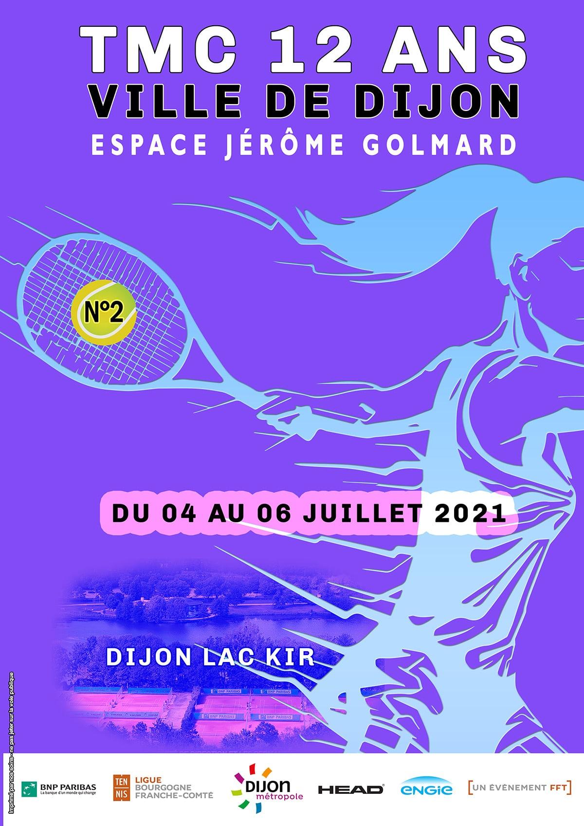 Affiche Tmc 12 Ans 2021 Numero 2 : Ligue Bourgogne-Franche-Comté de Tennis