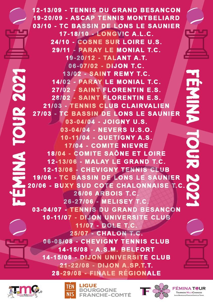 Femina Tour 2021 : Ligue Bourgogne-Franche-Comté de Tennis