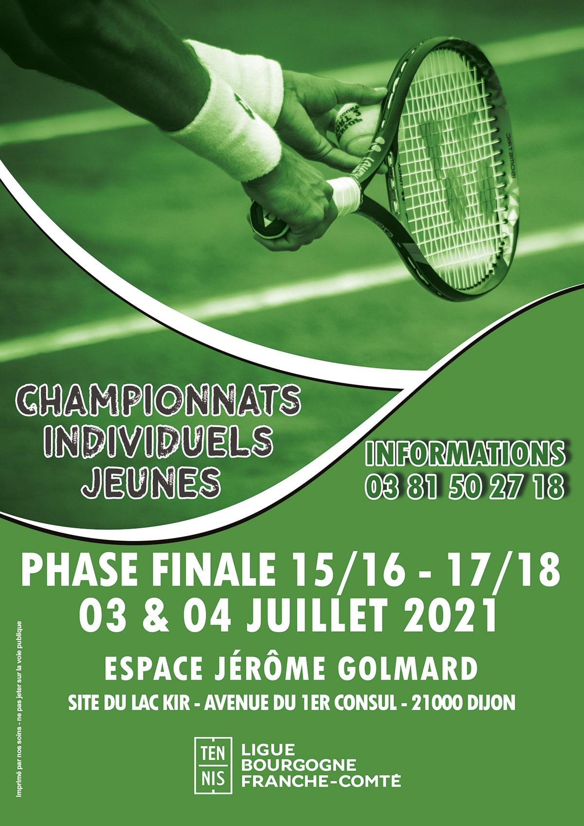 Individuels Régionaux Jeunes 2021 : Ligue Bourgogne-Franche-Comté de Tennis