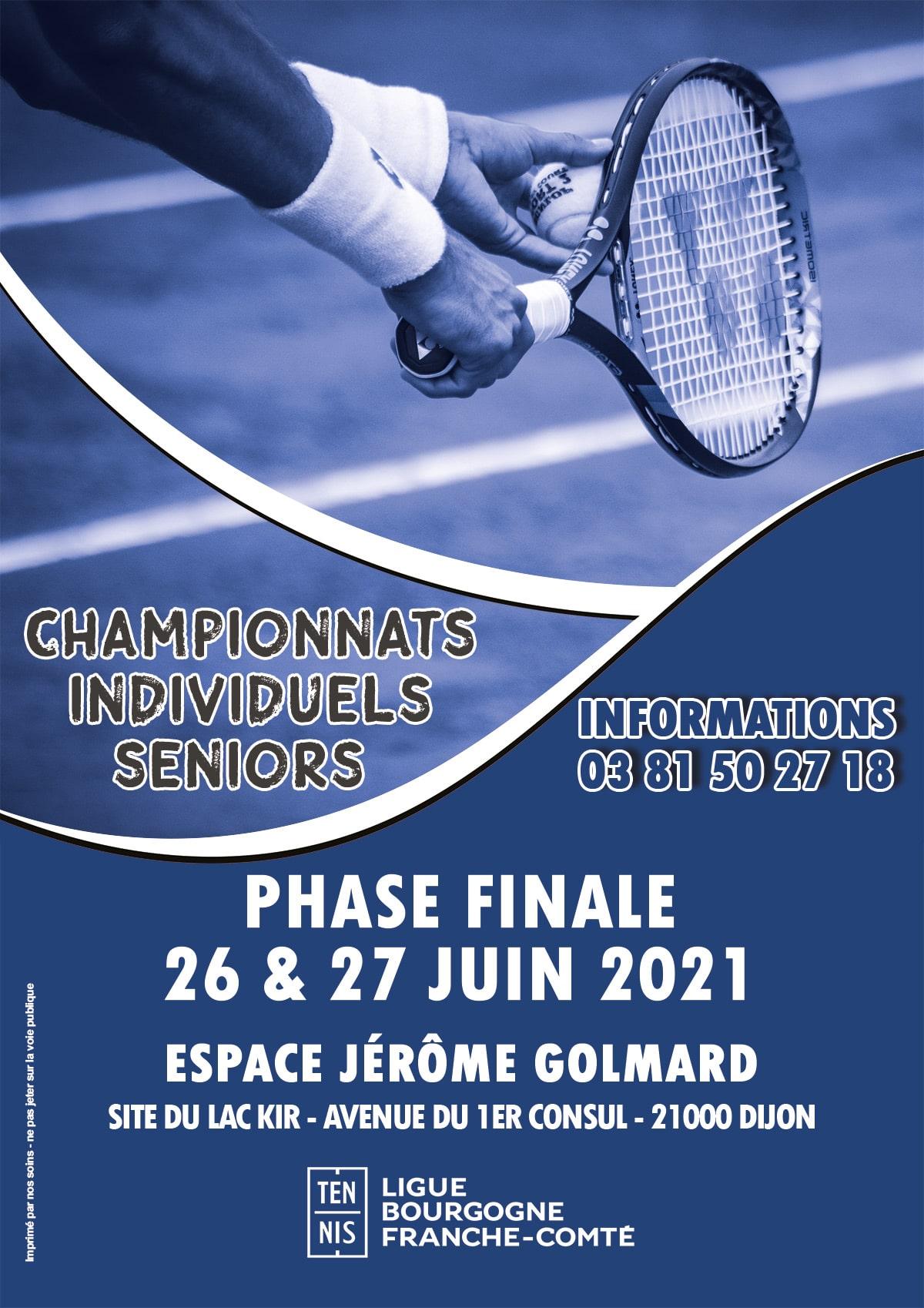 Individuels Régionaux Seniors 2021 : Ligue Bourgogne-Franche-Comté de Tennis