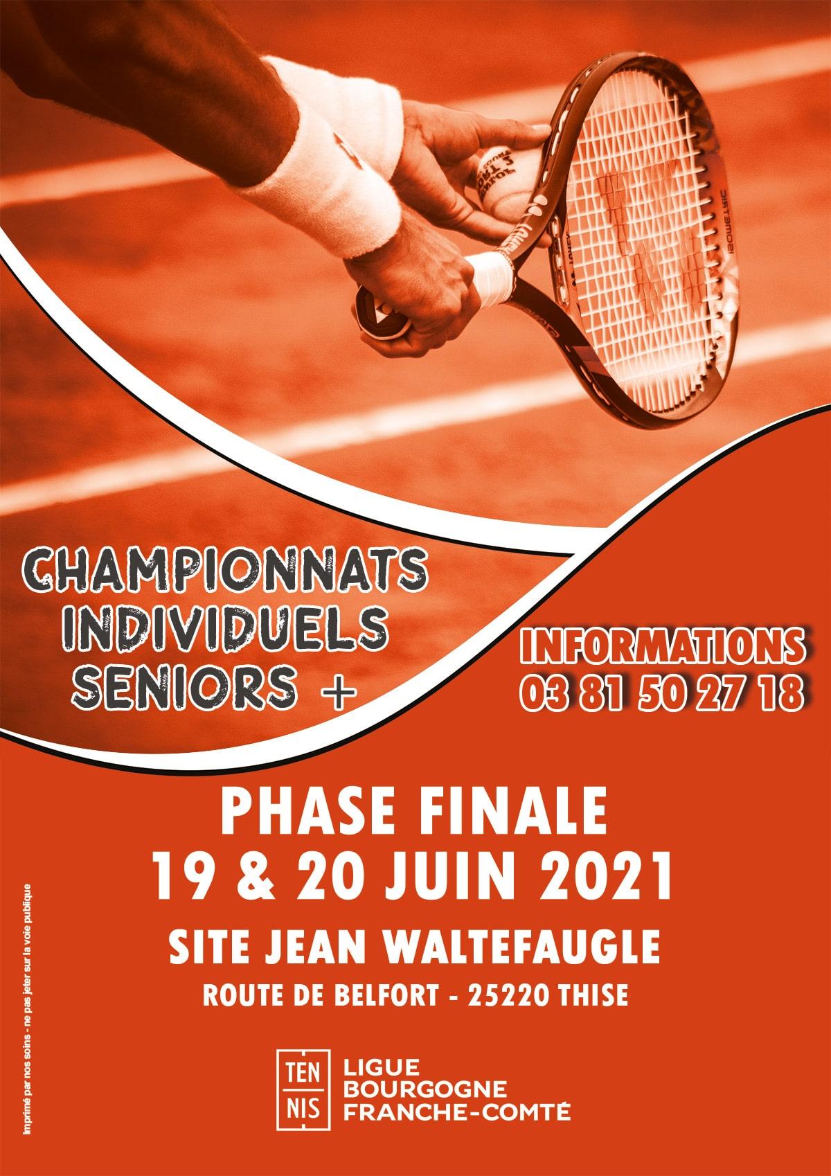 Individuels Régionaux Seniors Plus 2021 : Ligue Bourgogne-Franche-Comté de Tennis
