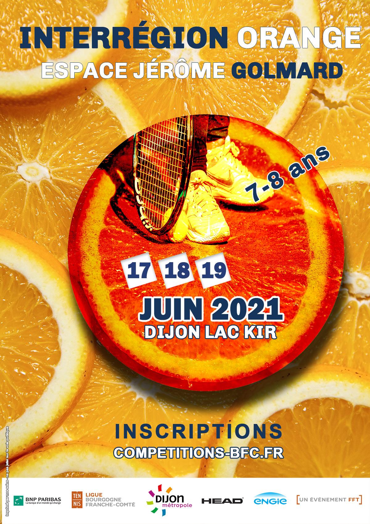 Interregion Orange 2021 Ligue Bourgogne-Franche-Comté de Tennis