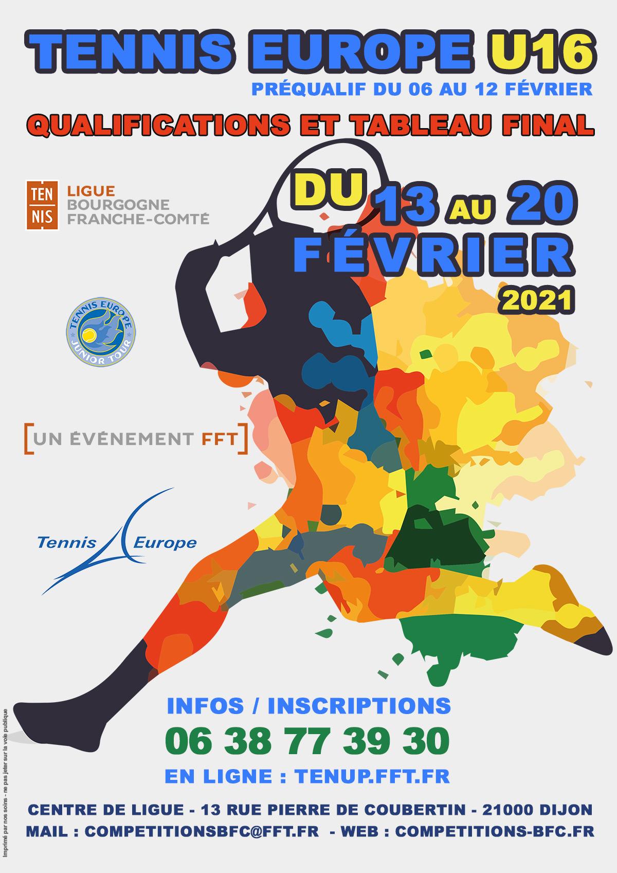 Les Petits Ducs Tennis Europe U16 à Dijon 2021