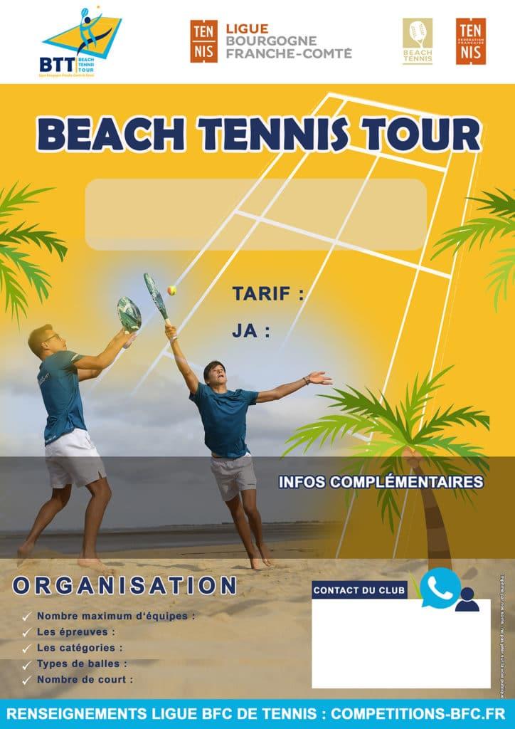 Modèle Clubs Beach Tennis Tour : Ligue BFC Tennis
