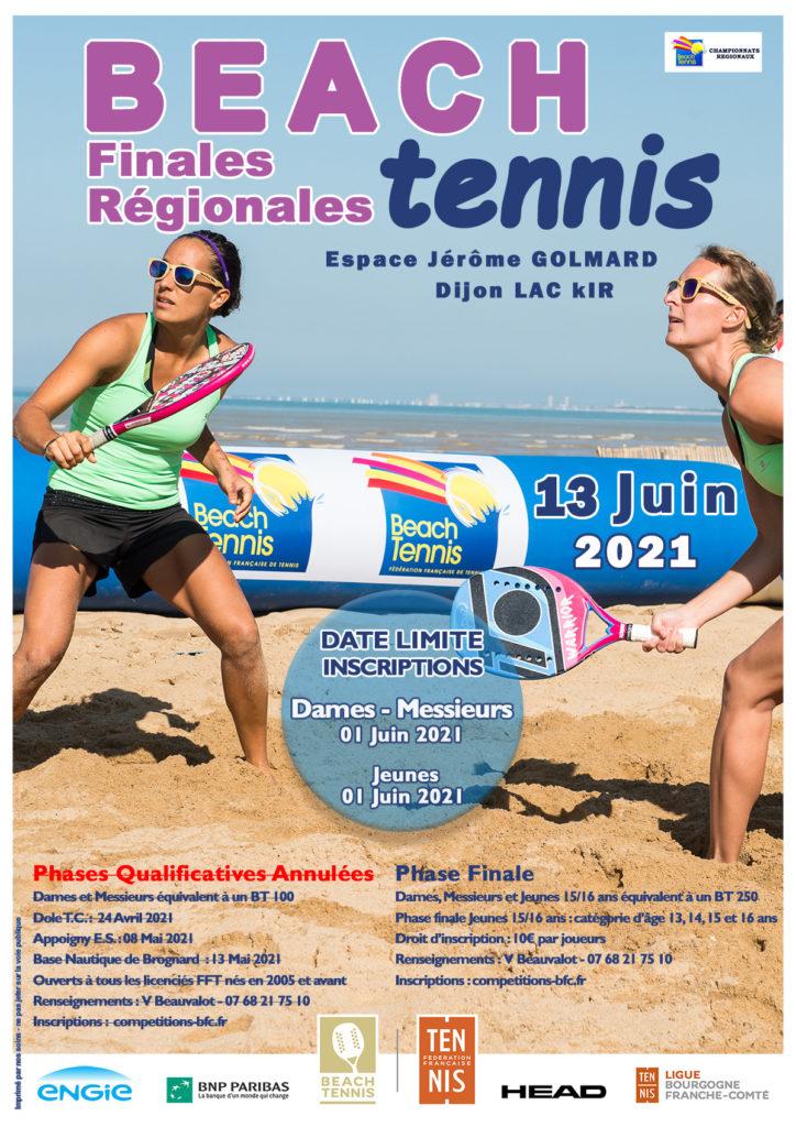 Championnat Régionaux Beach Tennis 2021 : Ligue BFC de Tennis
