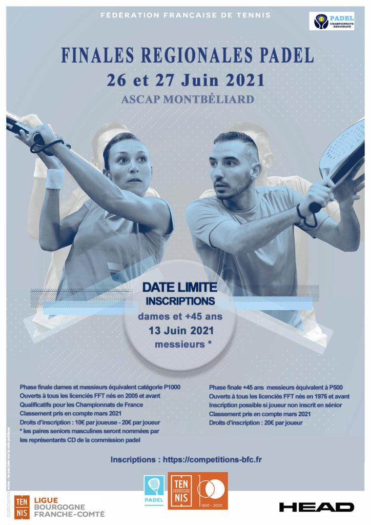 Championnat Régionaux de Padel 2021 : Ligue BFC de Tennis
