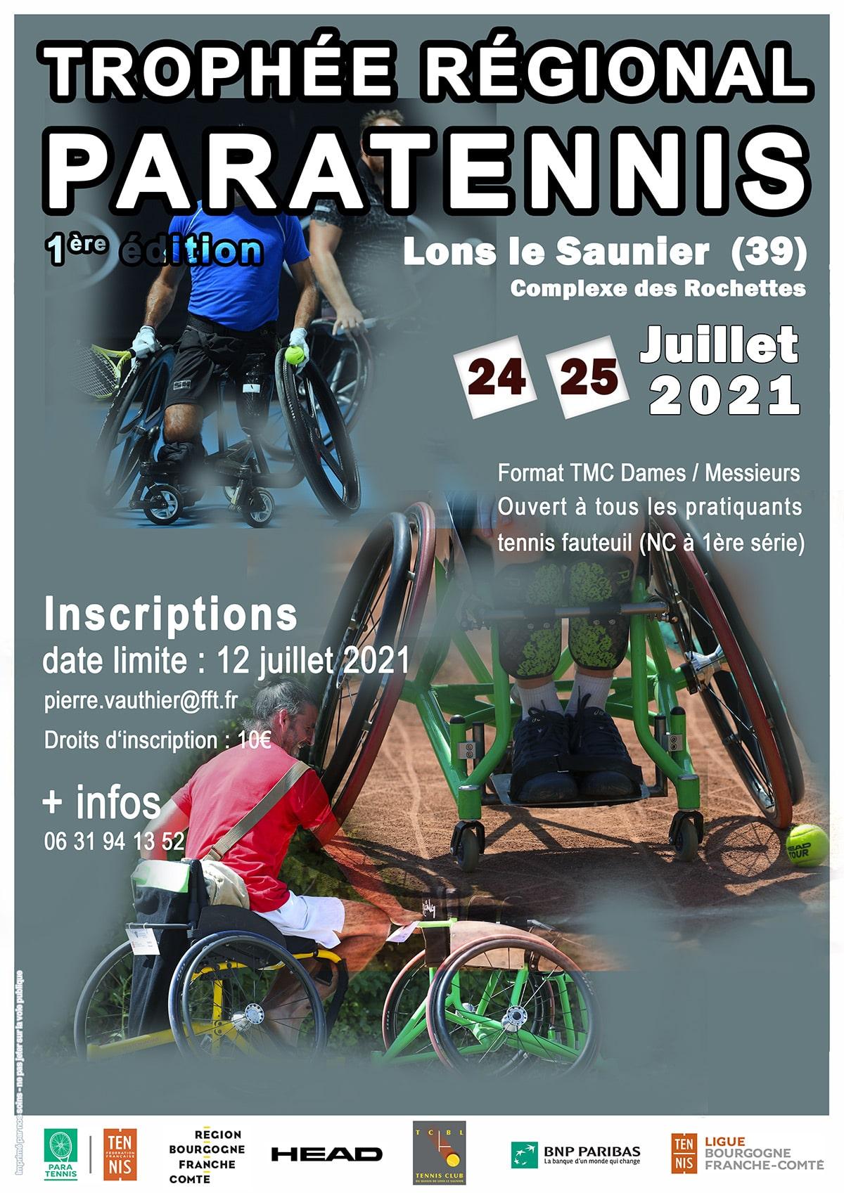 Trophée Régional de Paratennis 2021 : Ligue BFC de Tennis