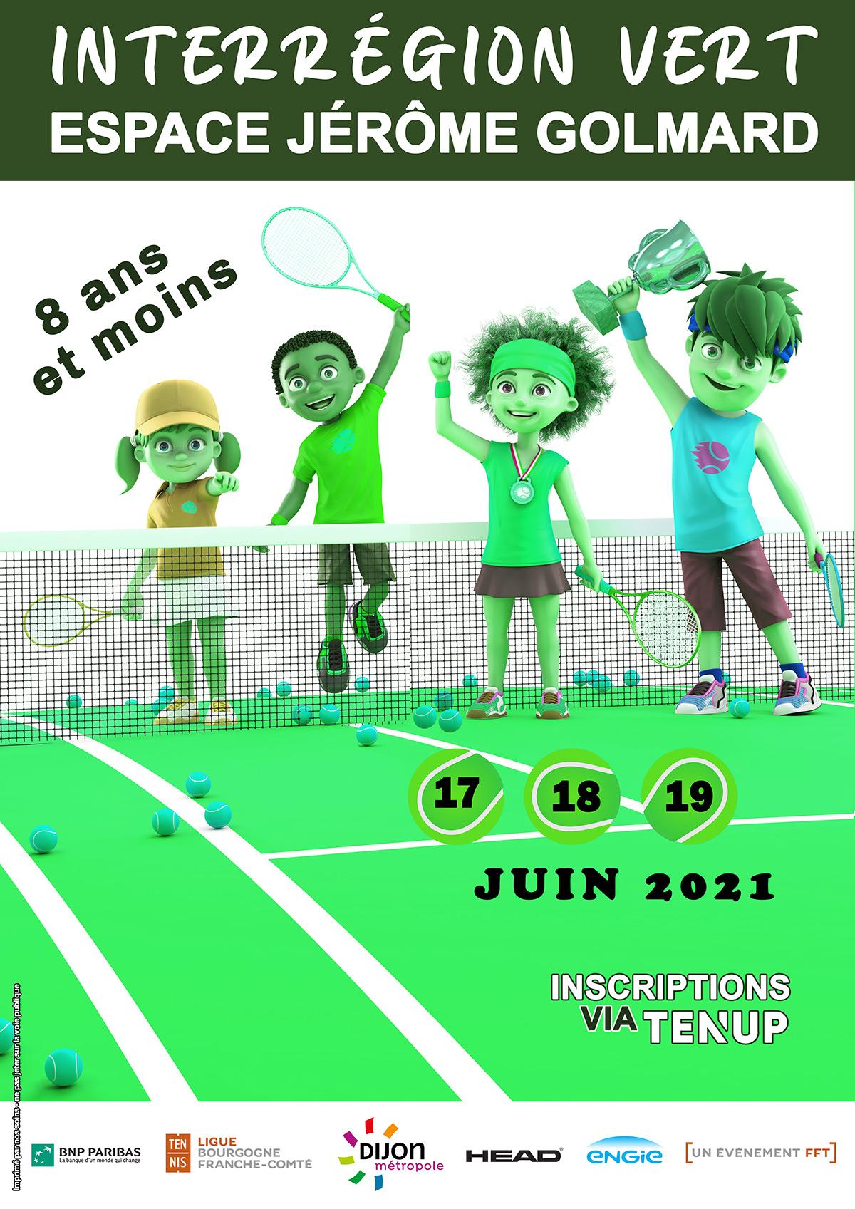 Interregion Vert 2021 Ligue Bourgogne-Franche-Comté de Tennis