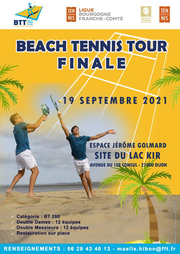 Phase Finale Beach Tennis Tour 2021 : Ligue Bourgogne-Franche-Comté de Tennis