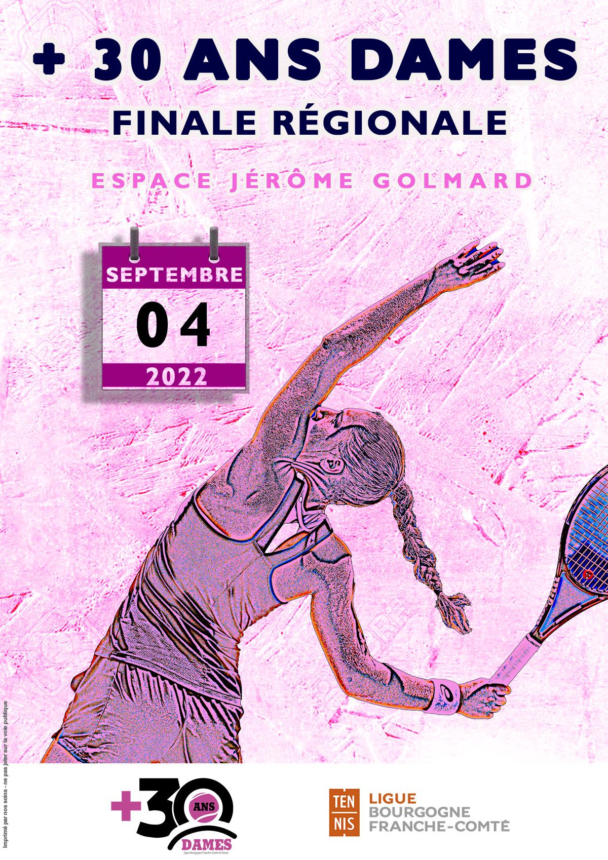 + 30 Ans Dames 2022 : Ligue BFC Tennis